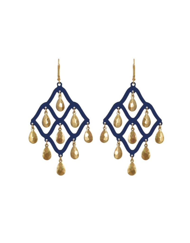 Navy Taru Earrings