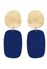 We Dream In Colour Navy Cubist Earrings