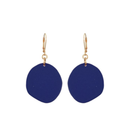 We Dream In Colour Single Navy Pebble Earrings