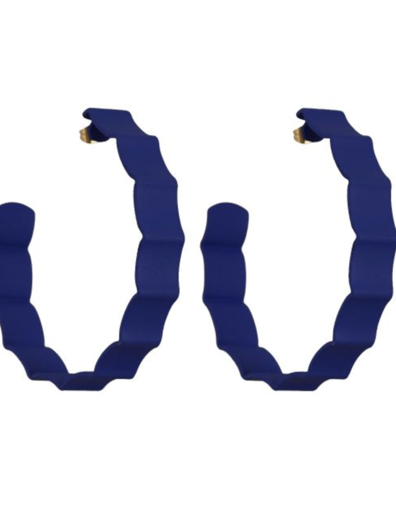 We Dream In Colour Navy Ruffle Hoops
