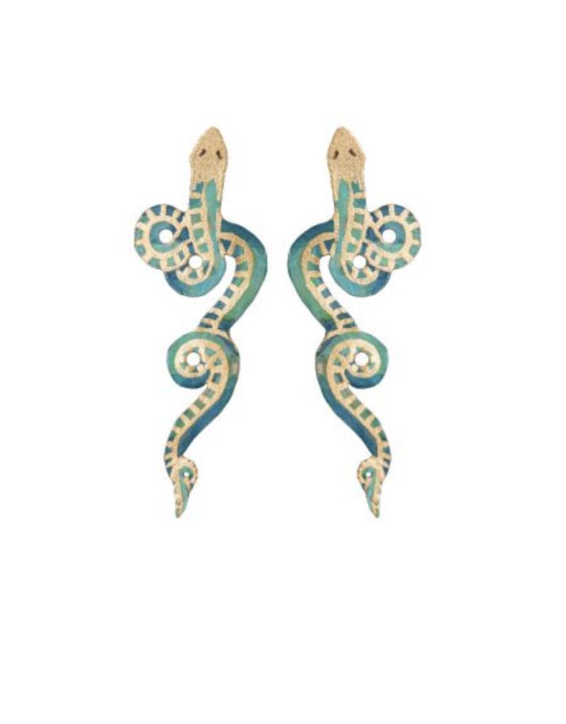 We Dream In Colour Wee Serpentine Earrings