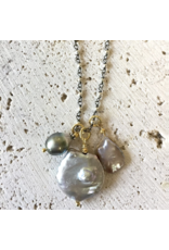 Robindra Unsworth Pearl Cluster Necklace