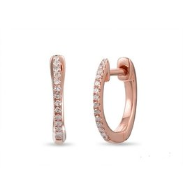Luvente 14K Rose Gold Thin Huggies
