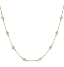 Jude Frances Moroccan Quad Diamond Station Chain