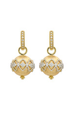 Jude Frances Provence Medium Filigree Pave Spherical Earring Charms