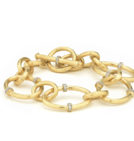Jude Frances Large JFJ Link Diamond Rondell Toggle Bracelet
