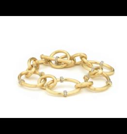 Large JFJ Link Diamond Rondell Toggle Bracelet