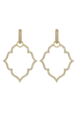 Michelle Flower Pave Earring Charm Frame