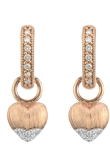 Jude Frances Lisse Puffy Heart With Diamond Accents Earring Charms