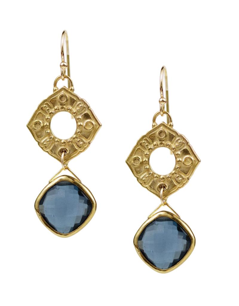 London Blue Topaz Poppy Earrings