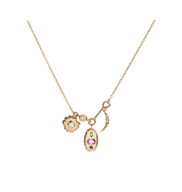 Scosha Tiny Space Charms Necklace