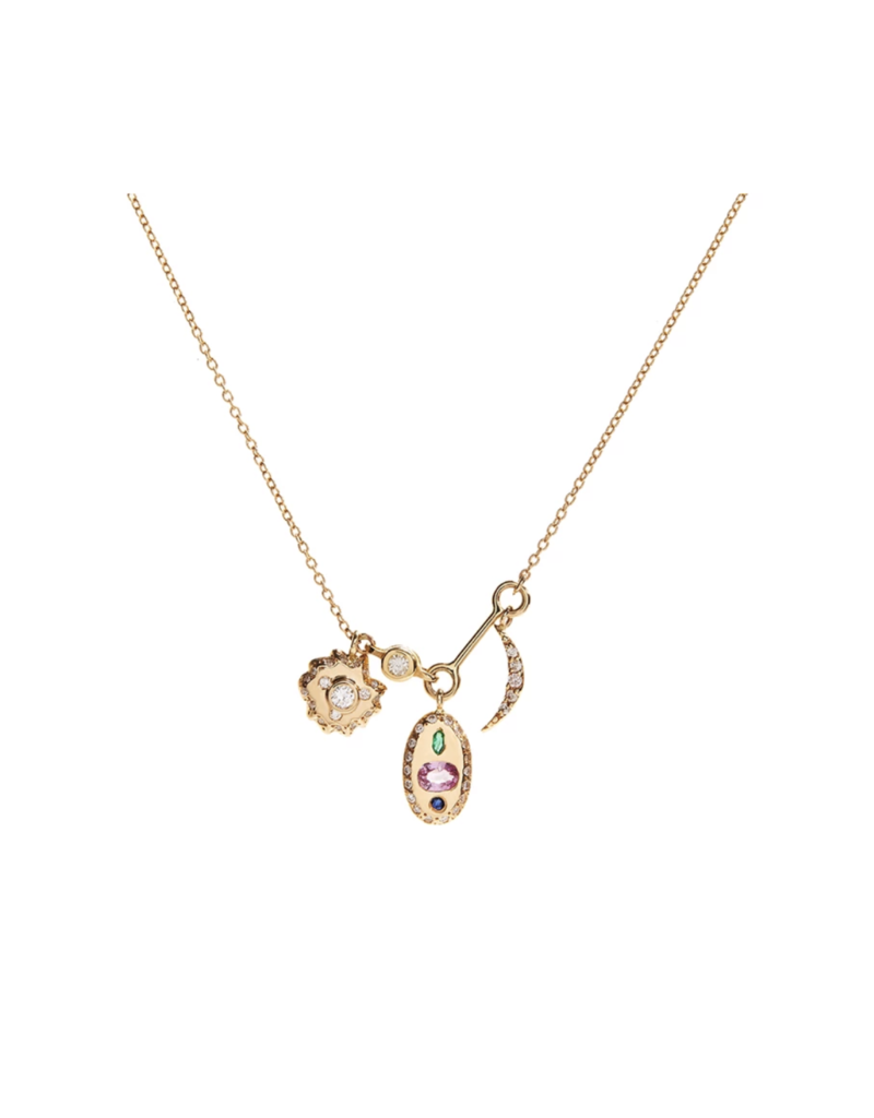 Scosha Tiny Space Charms Necklace
