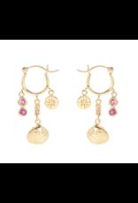 Ocean Treasure Pink Sapphire and Ruby Earrings