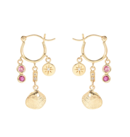 Scosha Ocean Treasure Pink Sapphire and Ruby Earrings