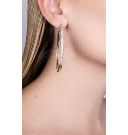 Lana 14KW 60 MM Thin Flawless Curved Hoops