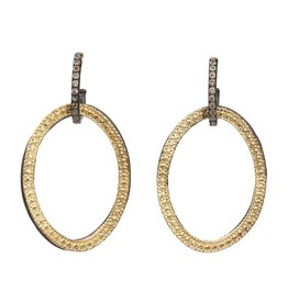 Armenta Open Circle Link Drop with Champagne Diamond Huggie