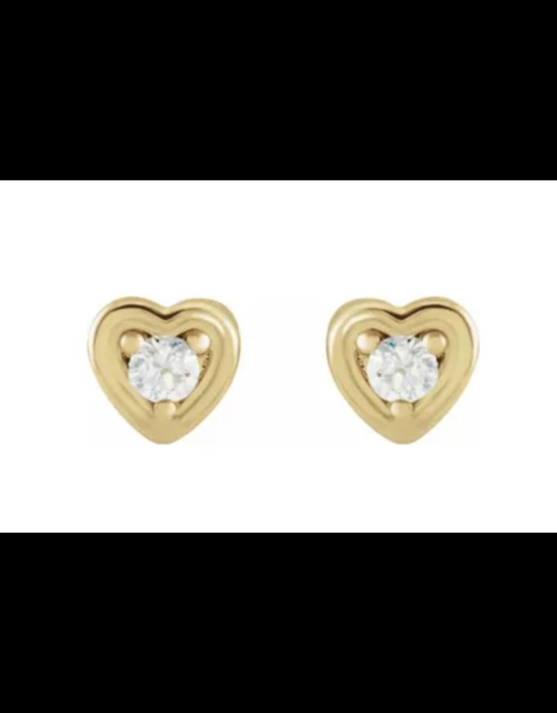 Diamond Heart Single Stud