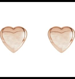 14K Rose Heart Earrings
