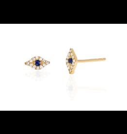 Mini Diamond Evil Eye Stud Earring