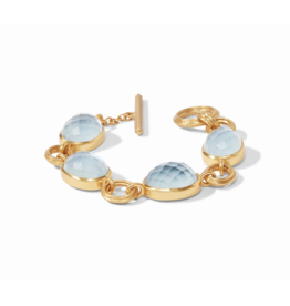 Barcelona Bracelet Iridescent Chalcedony Blue