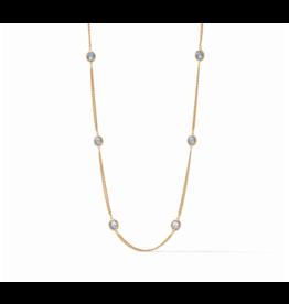 Calypso Station Necklace Chalcedony Blue