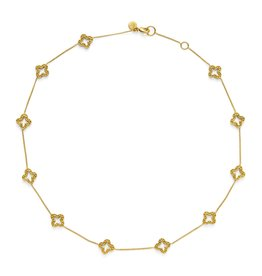 "Julie Vos Florentine Large Station Necklace 17""-18"""