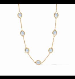 Calypso Delicate Necklace Chalcedony Blue