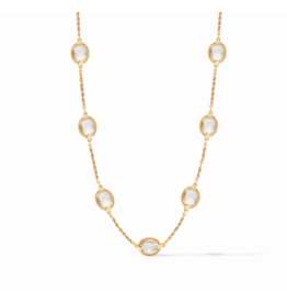 Julie Vos Calypso Delicate Necklace Clear Crystal