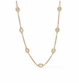 Julie Vos Calypso Demi Delicate Necklace Mother of Pearl