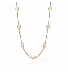 Julie Vos Calypso Demi Delicate Necklace Clear Crystal