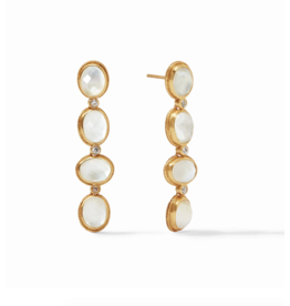 Julie Vos Calypso Statement Earring Iridescent Clear Crystal