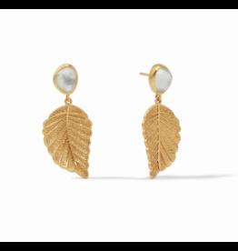Aspen Leaf Earring Iridescent Clear Crystal