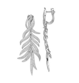 Fashion Feather Drop Earrings