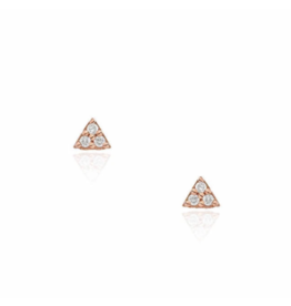 Liven 14K Rose Petite Triangle Post Single Stud