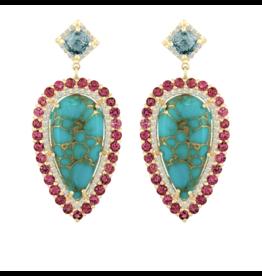Eden Presley Turquoise Spinel Earring