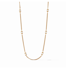 Julie Vos Calypso Pearl Station Necklace Long