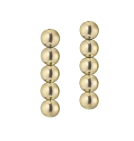 Jaimie Nicole Gold Ball Drop Earrings