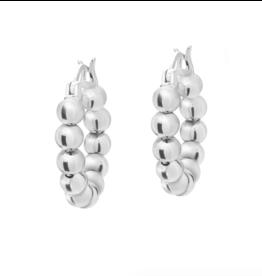 Baller Silver Huggie Earrings