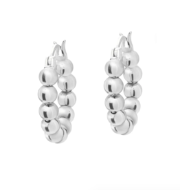 Jaimie Nicole Baller Silver Huggie Earrings
