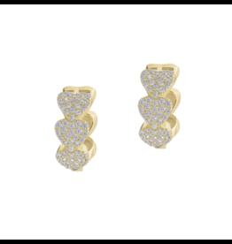 Gold Heart Huggie Earring