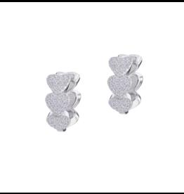 Silver Heart Huggie Earring