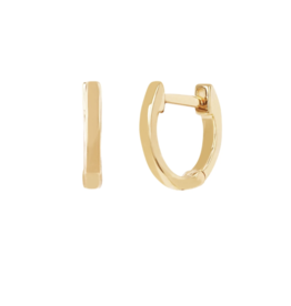 EF Collection 14KY GOLD MINI HUGGIE EARRING