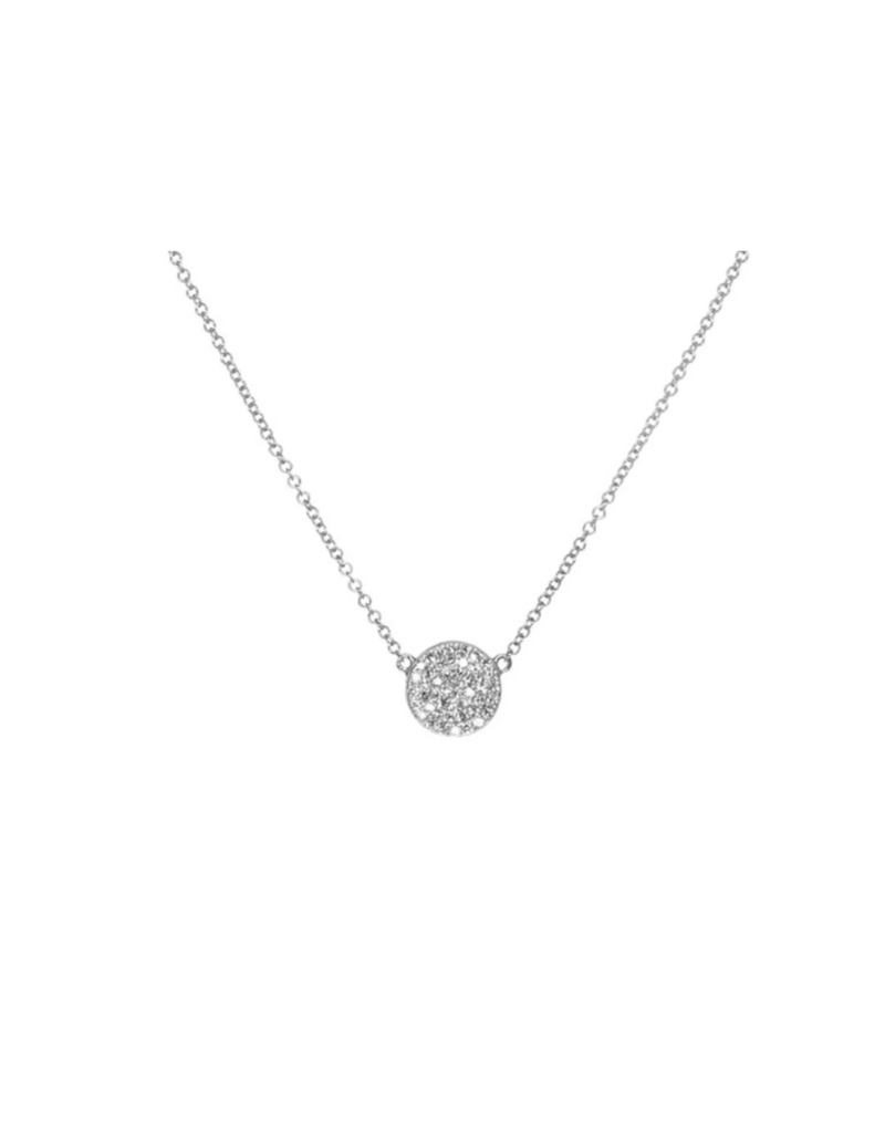 EF Collection 14KW DIAMOND DISC NECKLACE