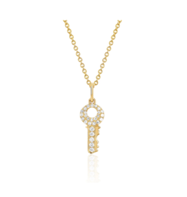 EF Collection 14KY MINI DIAMOND KEY NECKLACE