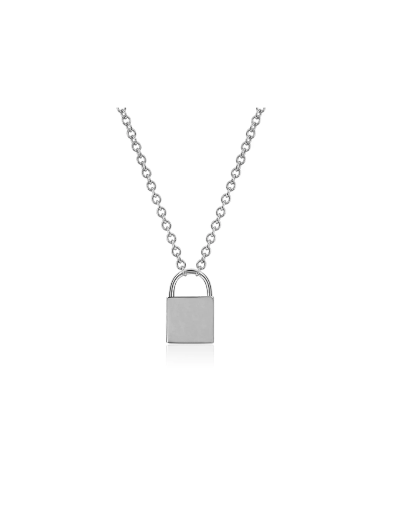 EF Collection 14KW GOLD LOCK NECKLACE