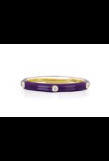 EF Collection 14KY 5 DIAMOND ULTRA VIOLET ENAMEL STACK RING SIZE 5