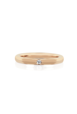 EF Collection 14KR JUMBO SINGLE DIAMOND GOLD STACK RING SIZE 6