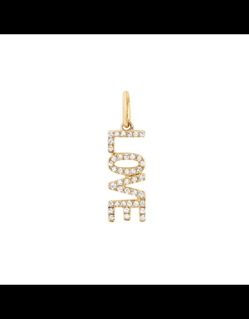 EF Collection 14KY DIAMOND LOVE CHARM PENDANT