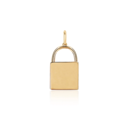 EF Collection 14KY GOLD LOCK CHARM PENDANT