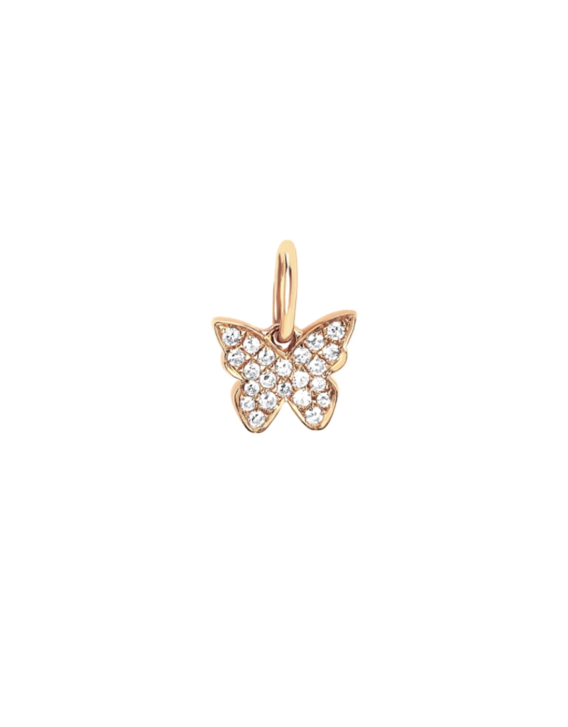EF Collection 14KY DIAMOND BUTTERFLY CHARM PENDANT